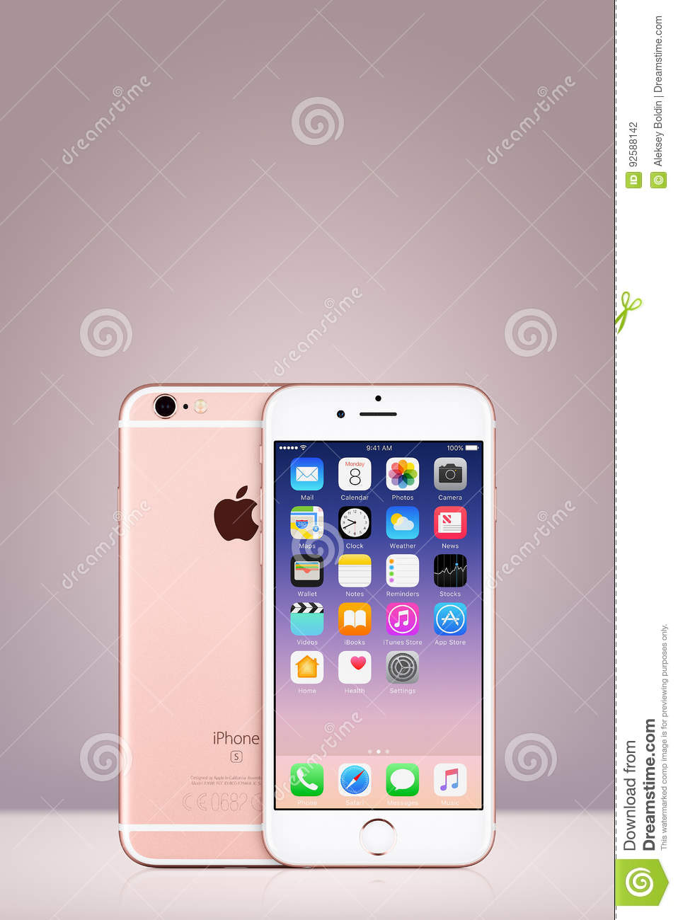 Iphone 7 De Rose Gold Apple Avec Ios 10 Sur L Ecran Sur Le