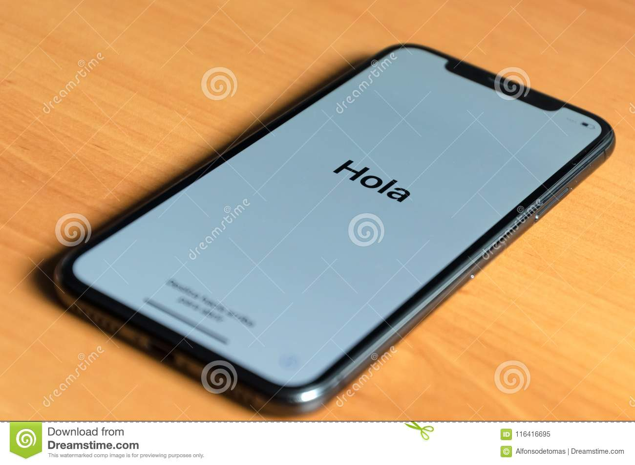 Iphone greeting in spanish with hola editorial image image of download iphone greeting in spanish with hola editorial image image of smart computer m4hsunfo