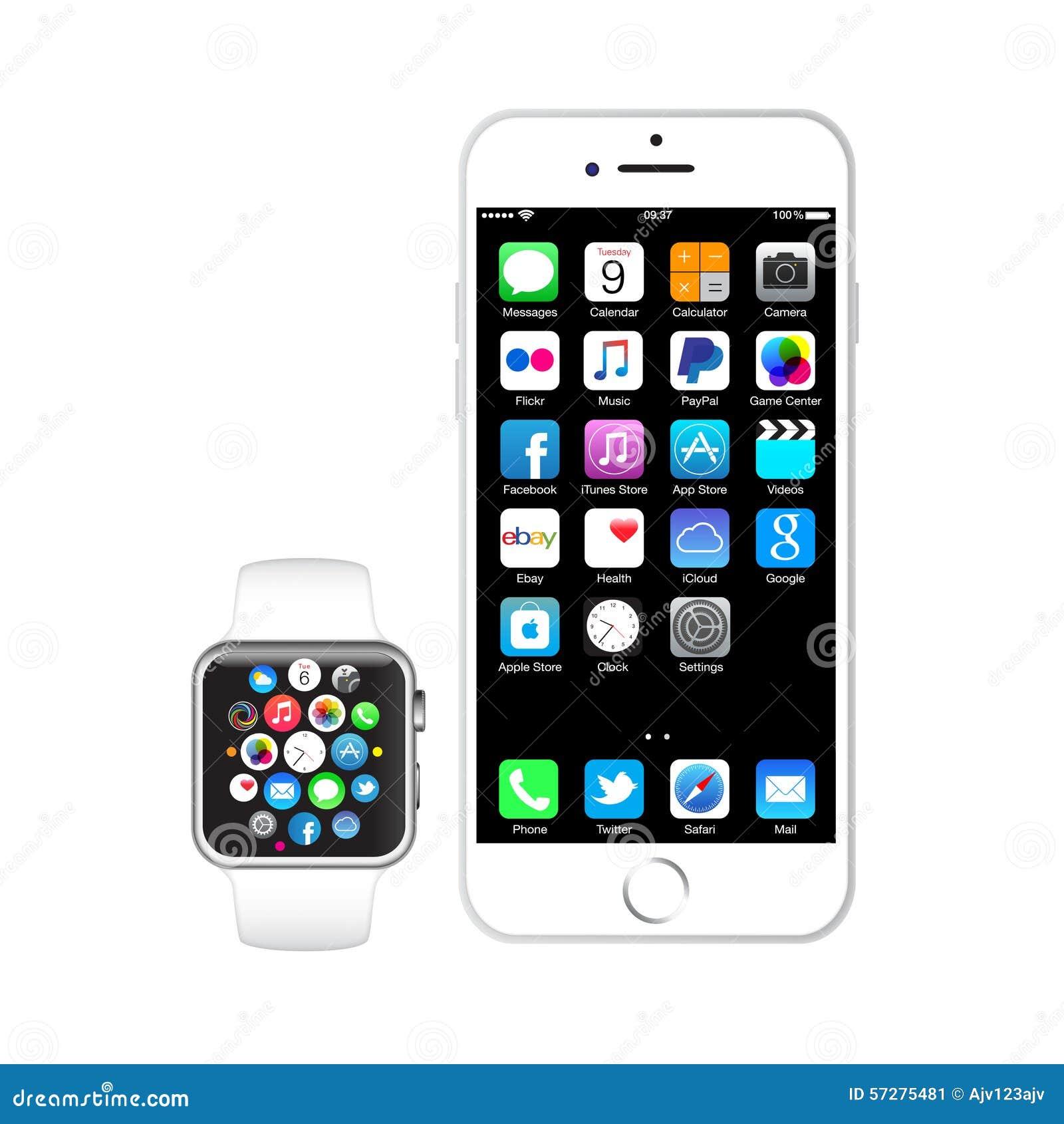 IPhone 6 i jabłczany zegarek