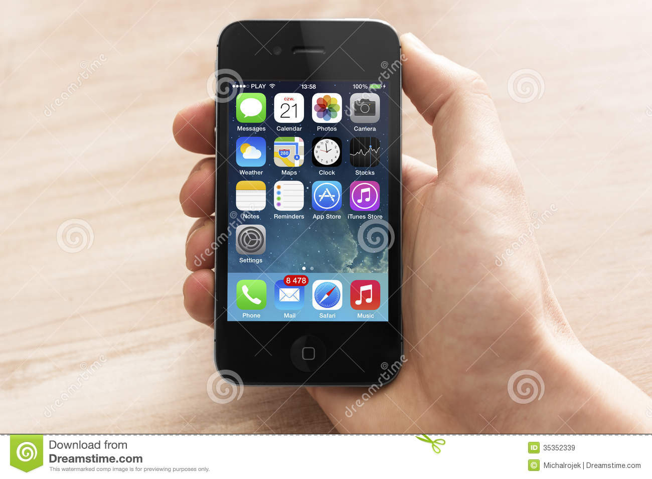 Iphone with new ios 7 editorial stock image  Image of games