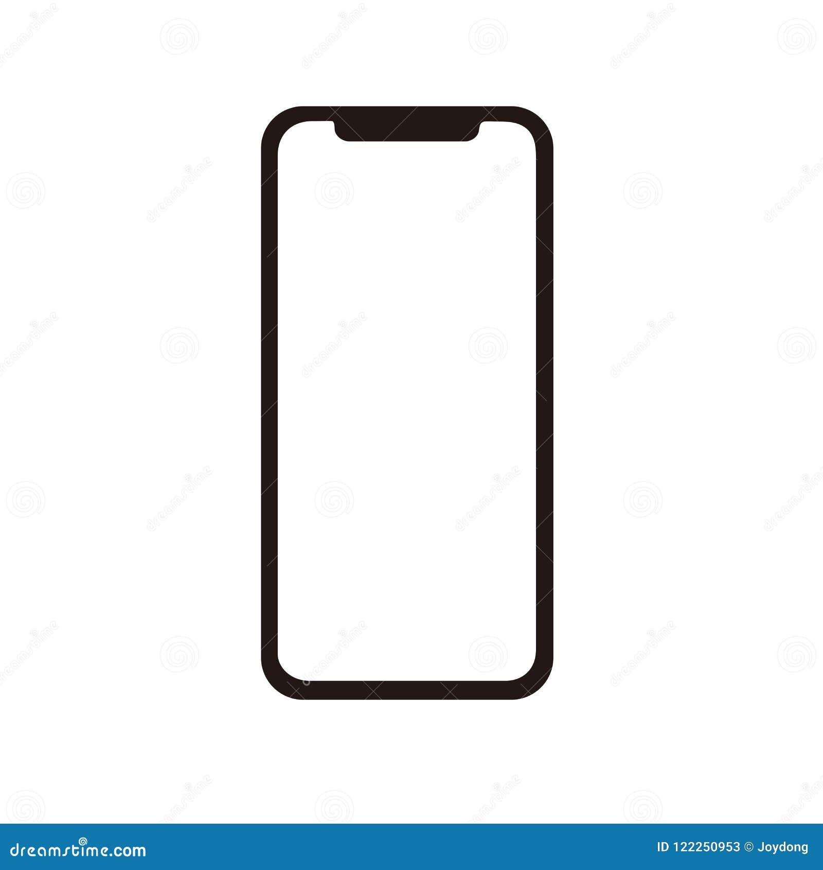 Iphone x pictogram voor vector