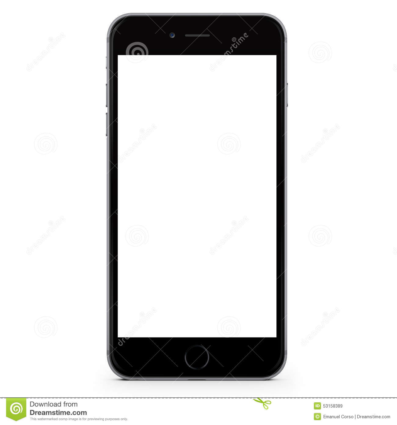 Iphone  White Screen Black Apple