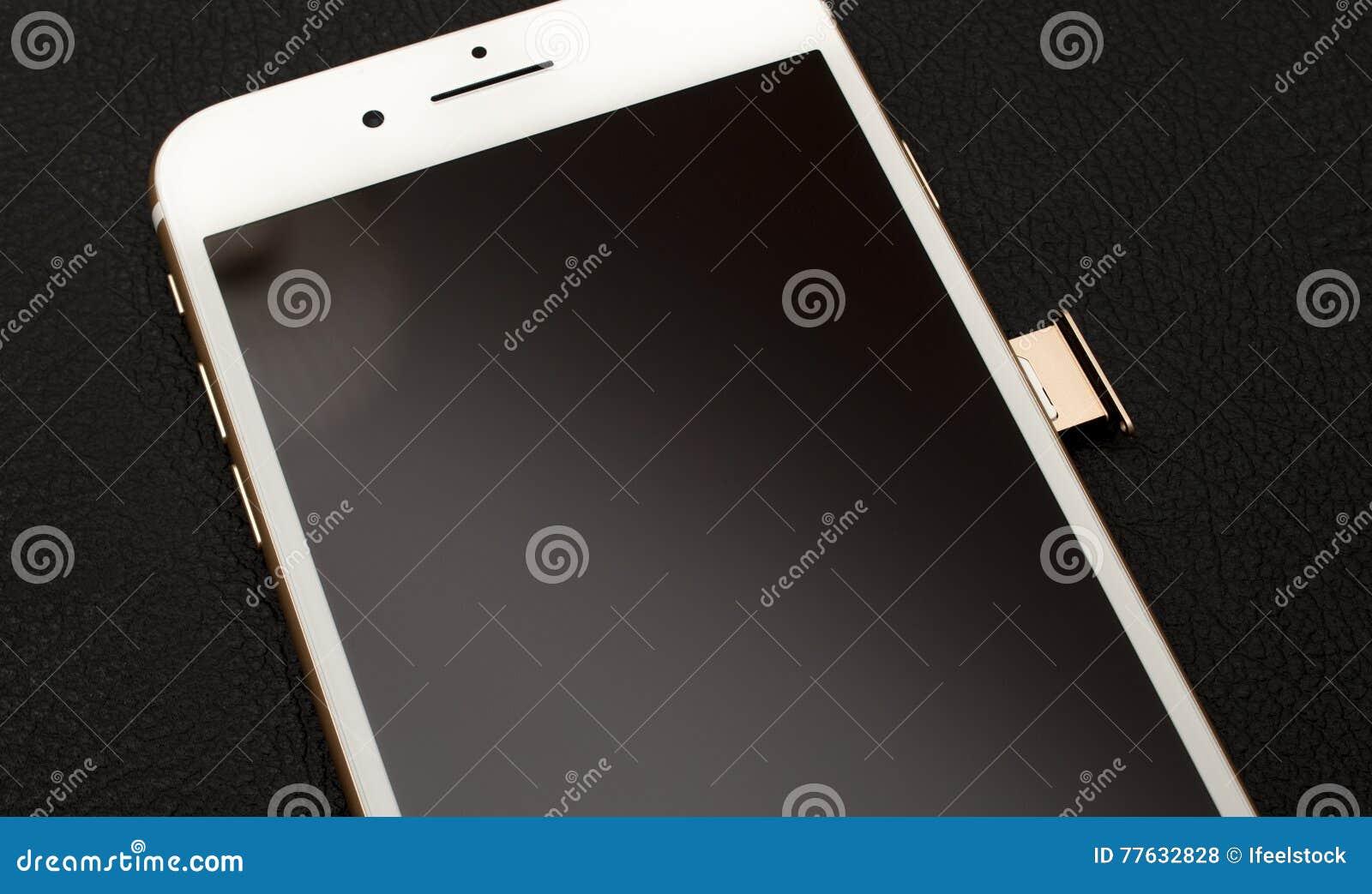 IPhone 7 plus de dubbele module van de camera unboxing inser SIM KAART