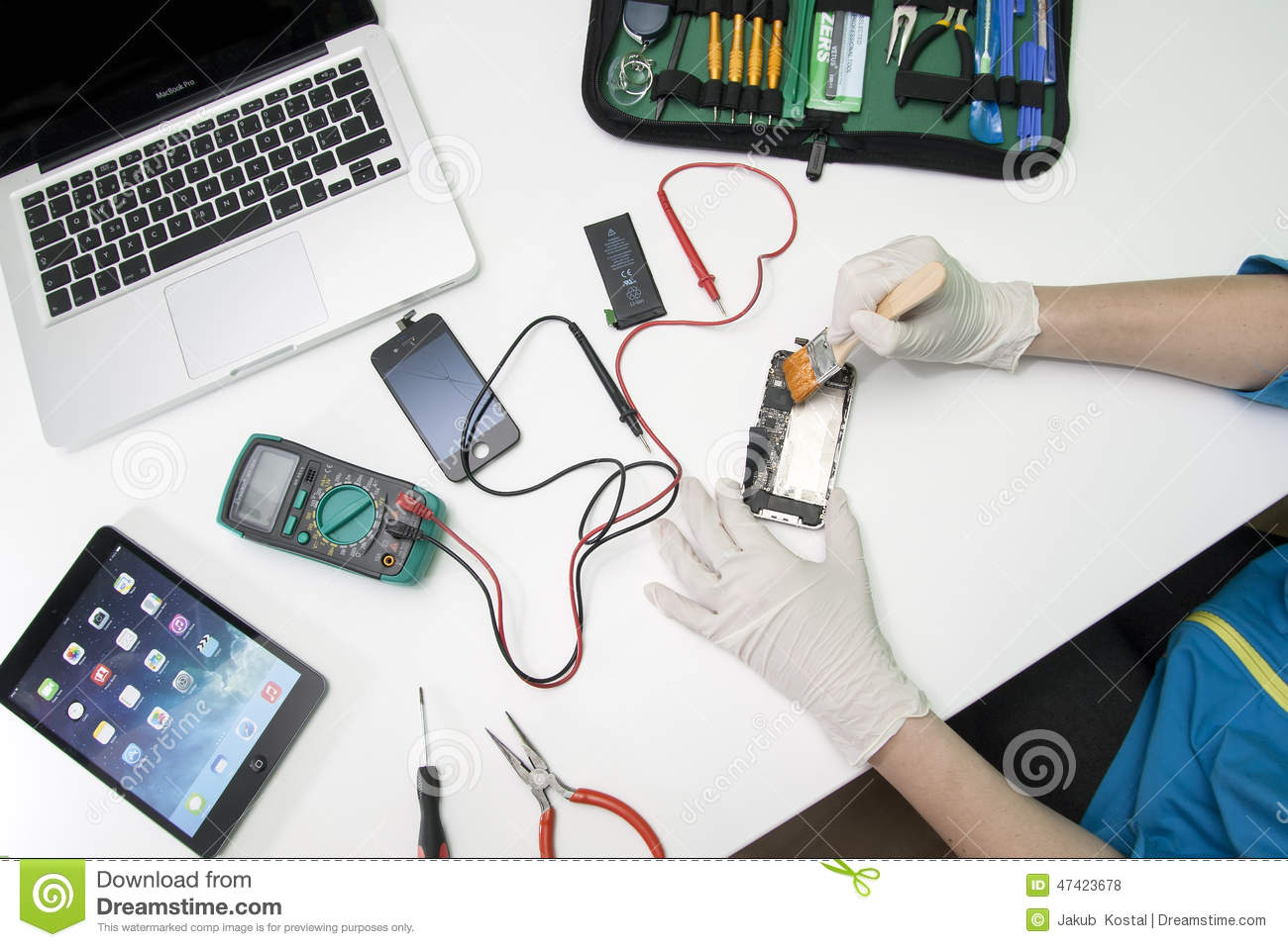 iphone repair. editorial stock photo iphone repair