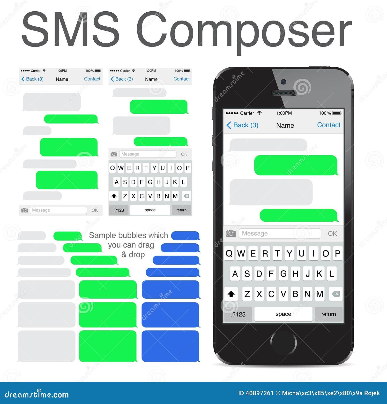 Iphone 5s聊天的sms模板泡影