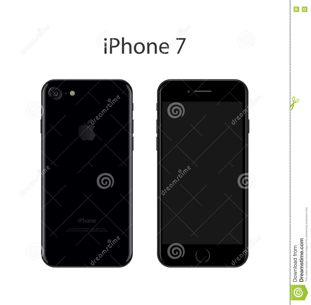 Iphone 7 vector illustration editorial stock image for Iphone 7 architecture
