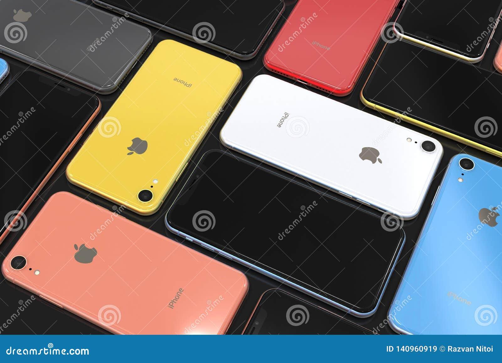 Iphone Xr D Apple Toutes Les Couleurs Disposition De