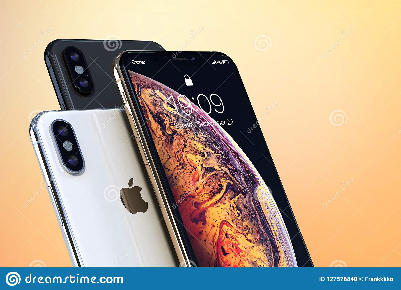 Iphone Xs Gold Silver And Space Grey On Light Colors
