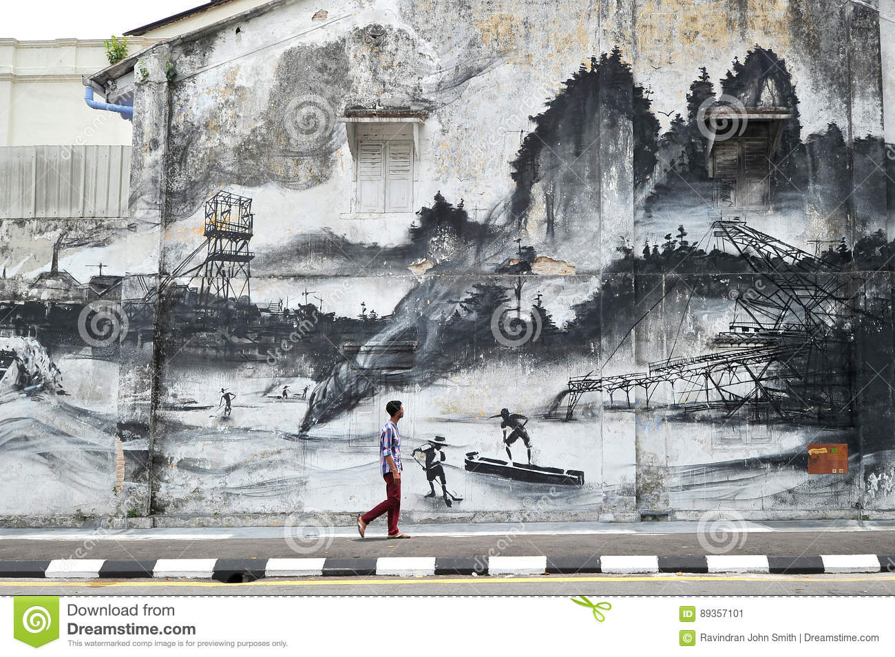 Ipoh wall art mural evolution editorial photo image for 7 mural ipoh