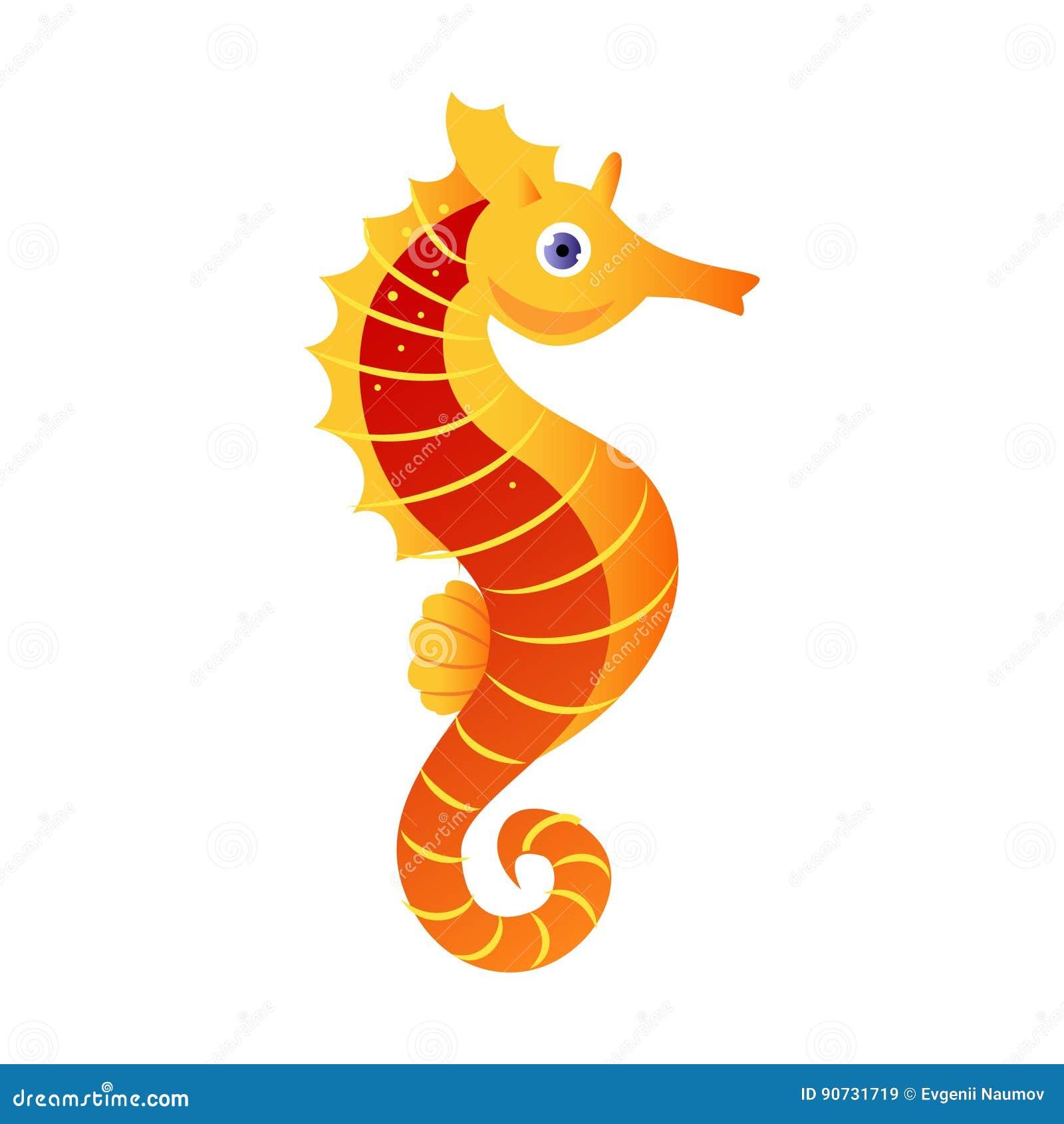 Ippocampo o ippocampo creatura del mare personaggio dei - Cartoni animati mare immagini ...