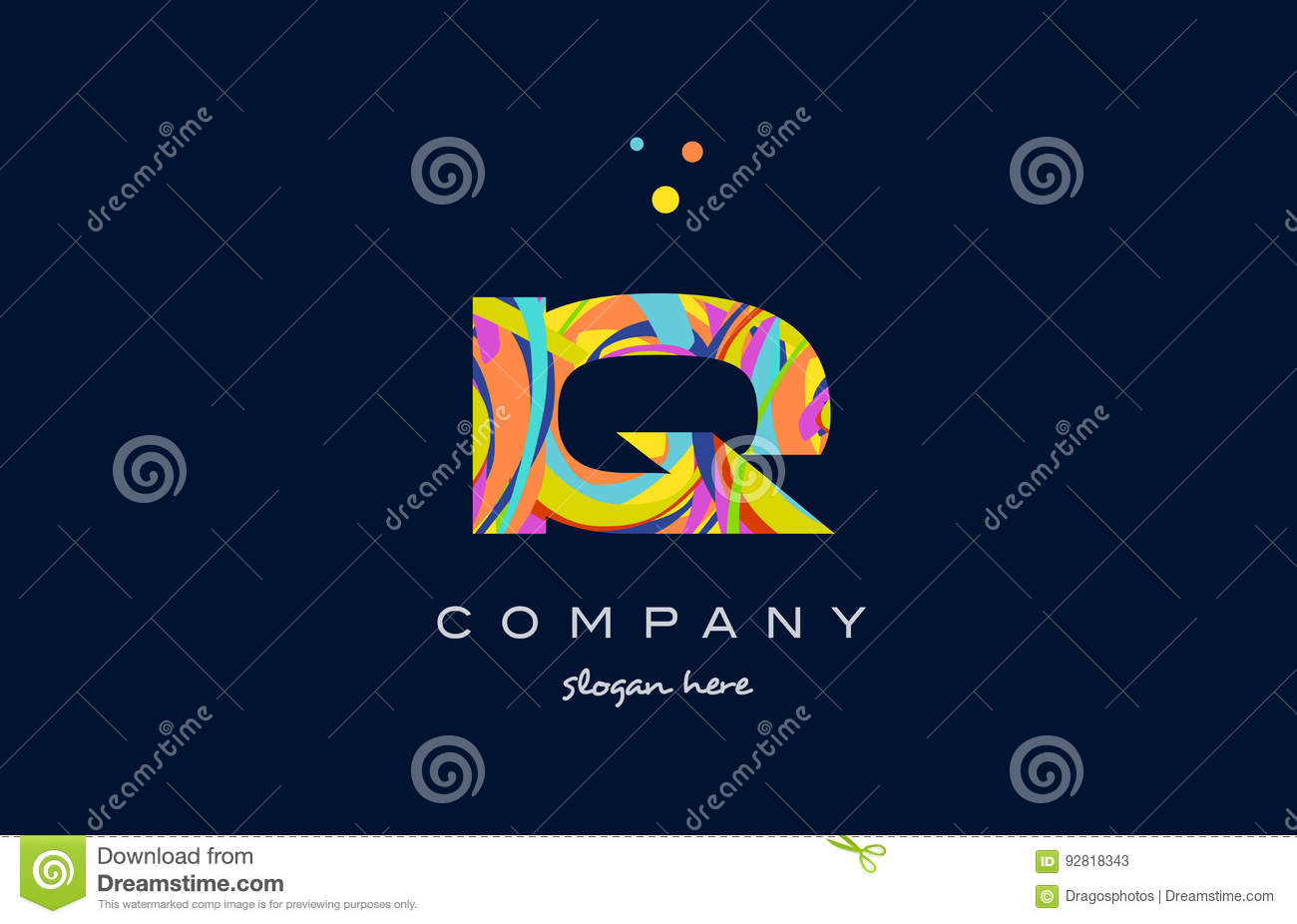 Iq template iq chart images reverse search paper template is iq i q colorful alphabet letter logo icon template vector stock baditri Images