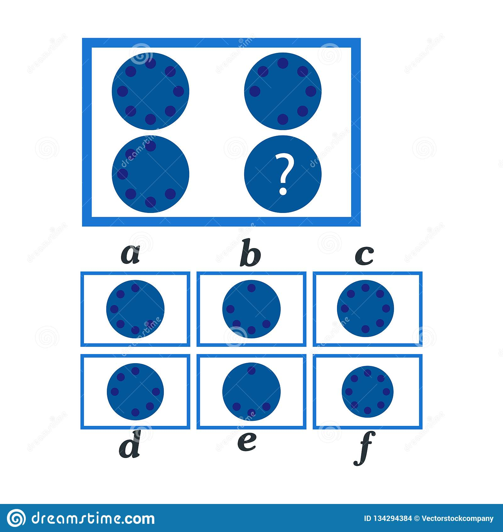 IQ Test. Choose Correct Answer. Logical Task, Educational ...