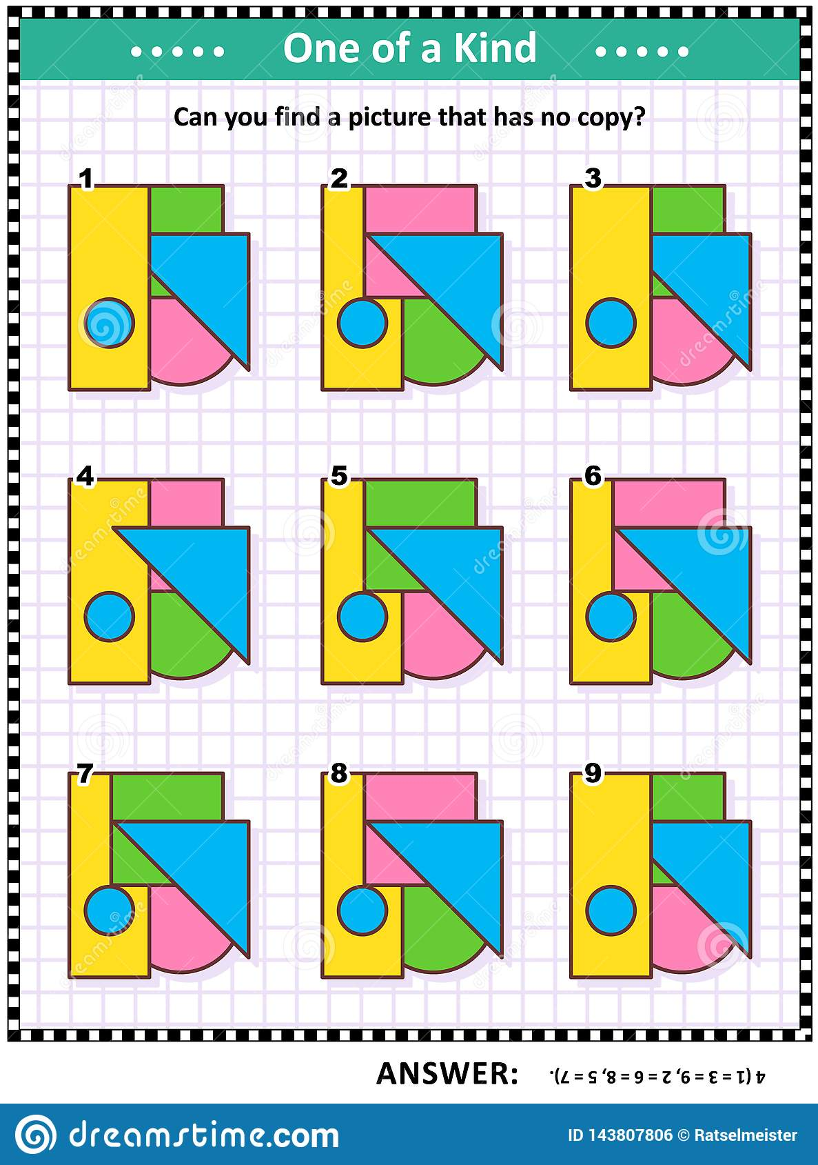 Math Game With Basic Shapes - Triangle, Rectangle, Circle, Square