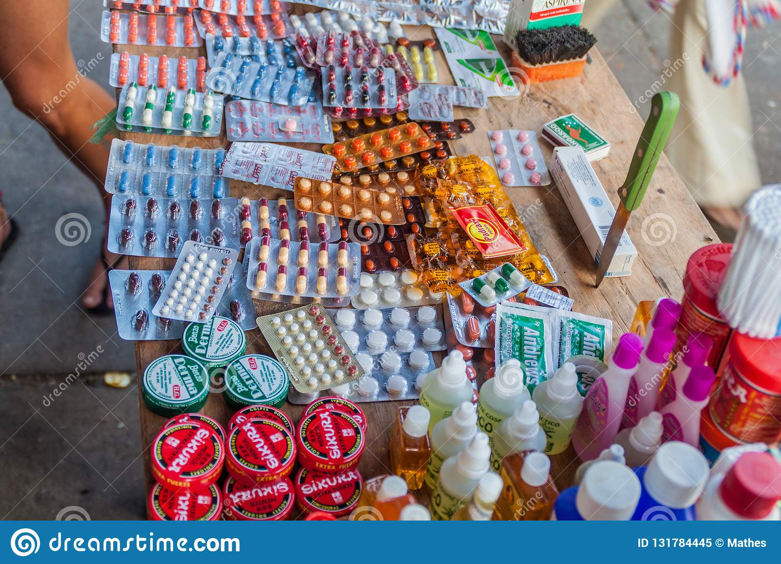Various pills for sale