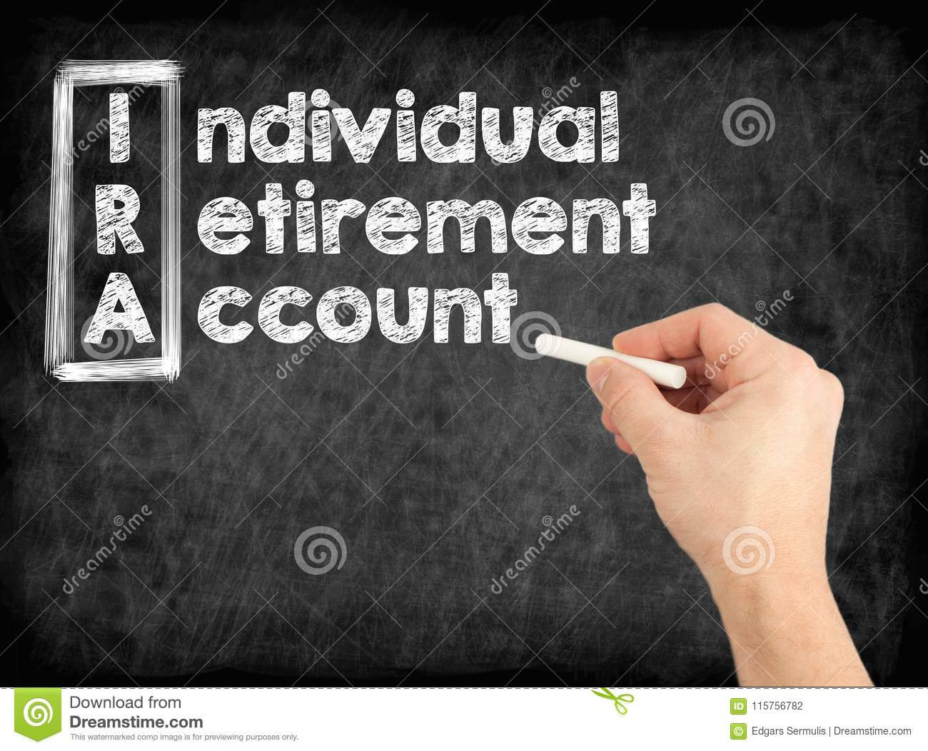 IRA - Individual Retirement Account concept