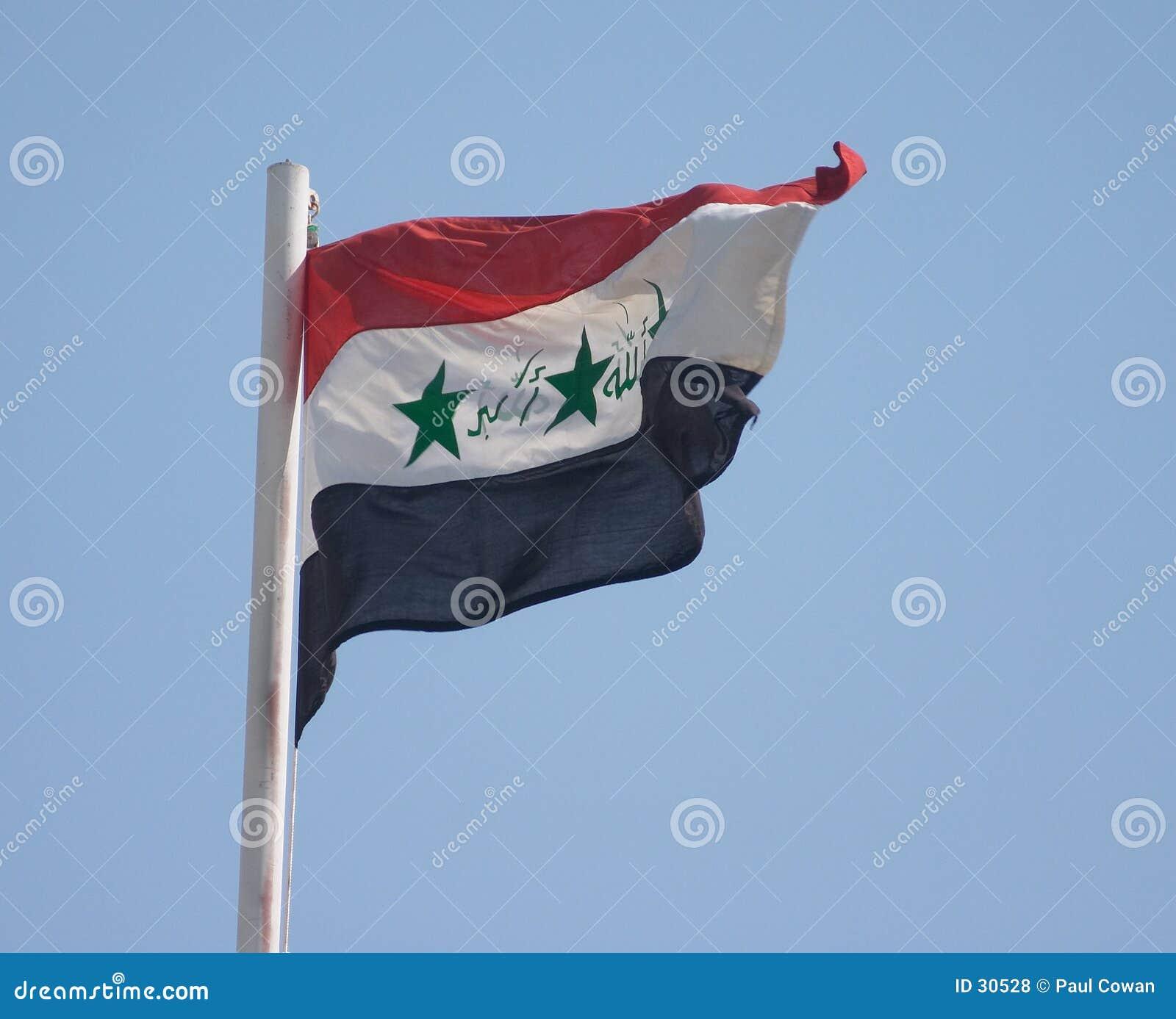 Irakisk national för flagga
