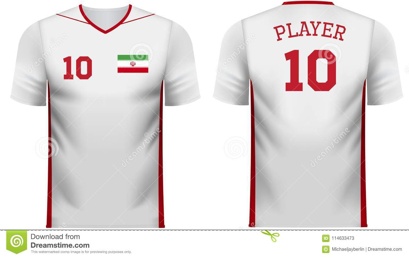 best sneakers d67e7 4181f Iran Fan Sports Tee Shirt In Generic Country Colors Stock ...