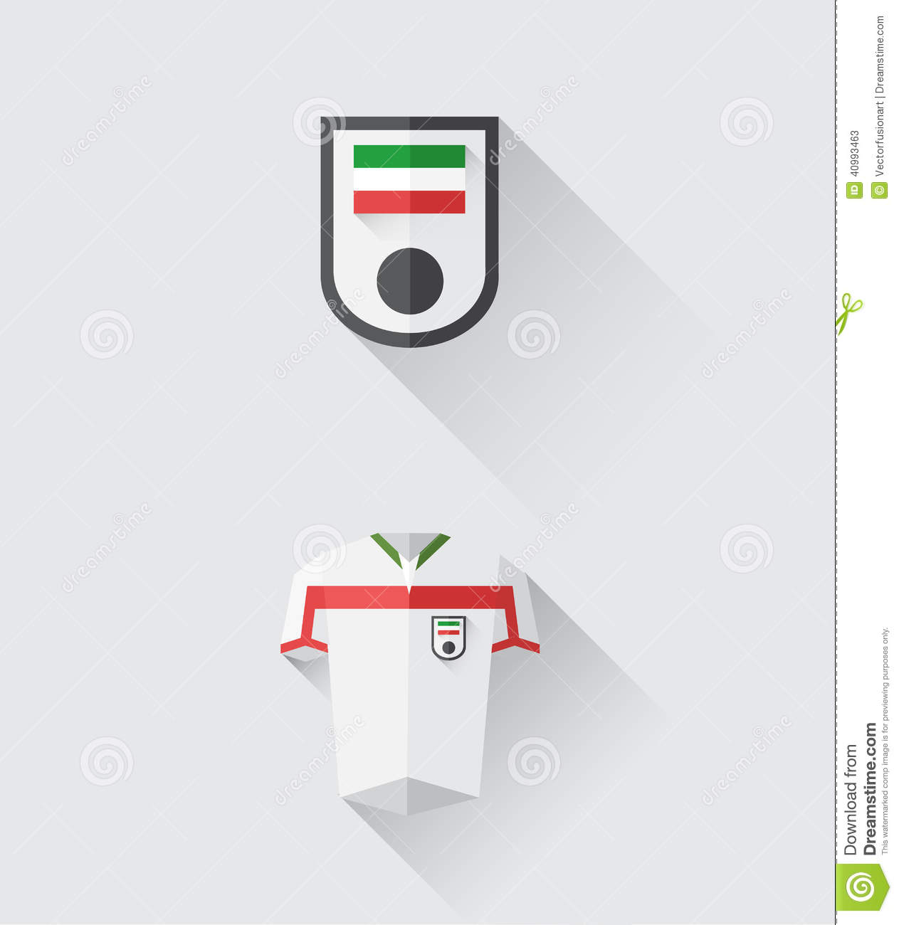 Iran Jersey And Crest Vector