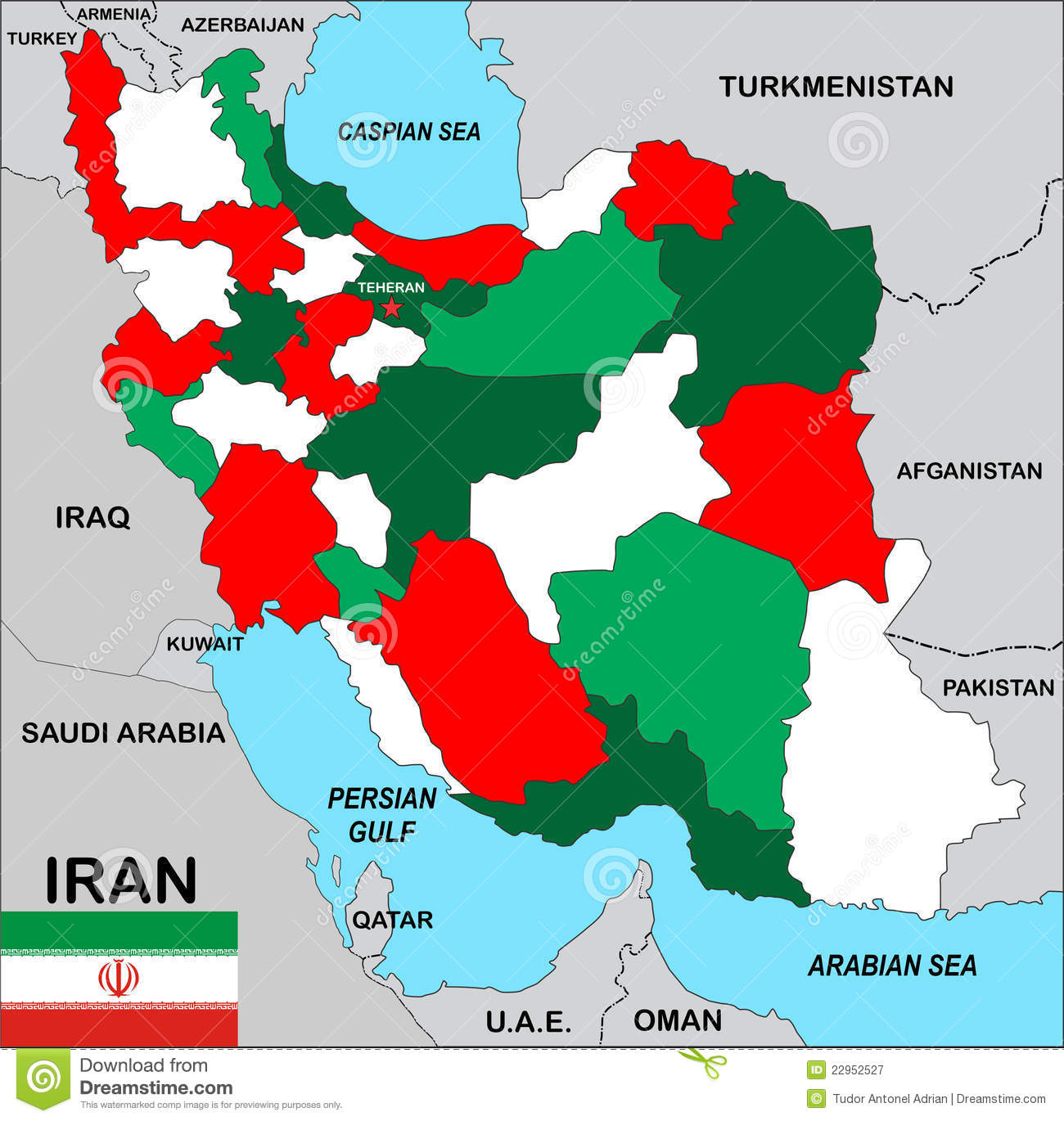 iran map world teheran