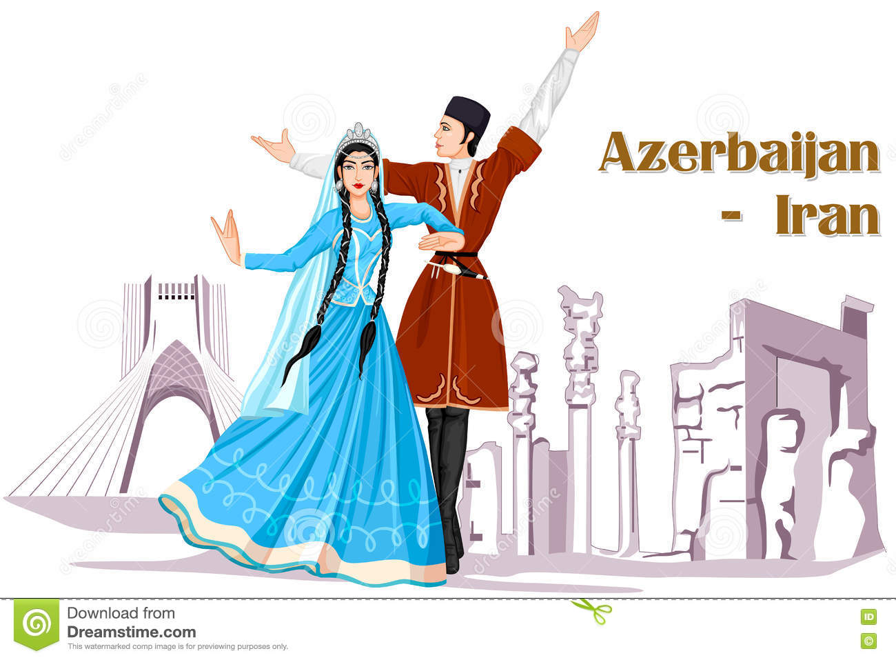 Iran stock illustrations 5699 iran stock illustrations vectors irani couple performing azerbaijan dance of iran vector design of irani couple performing azerbaijan dance buycottarizona Choice Image