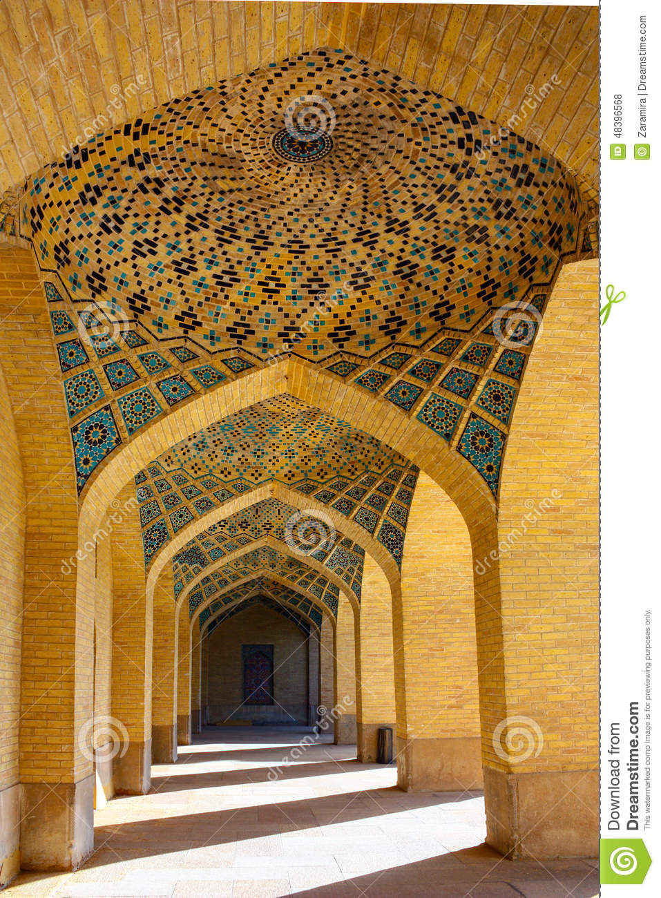 Non Muslim Perspective On The Revolution Of Imam Hussain: Iranian Architecture Stock Photo