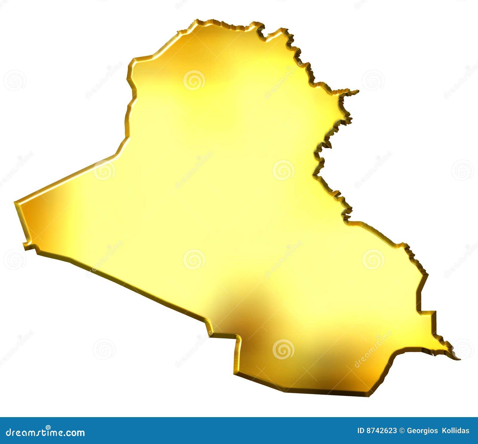 Iraq 3d golden map stock illustration illustration of iraq 8742623 iraq 3d golden map sciox Gallery