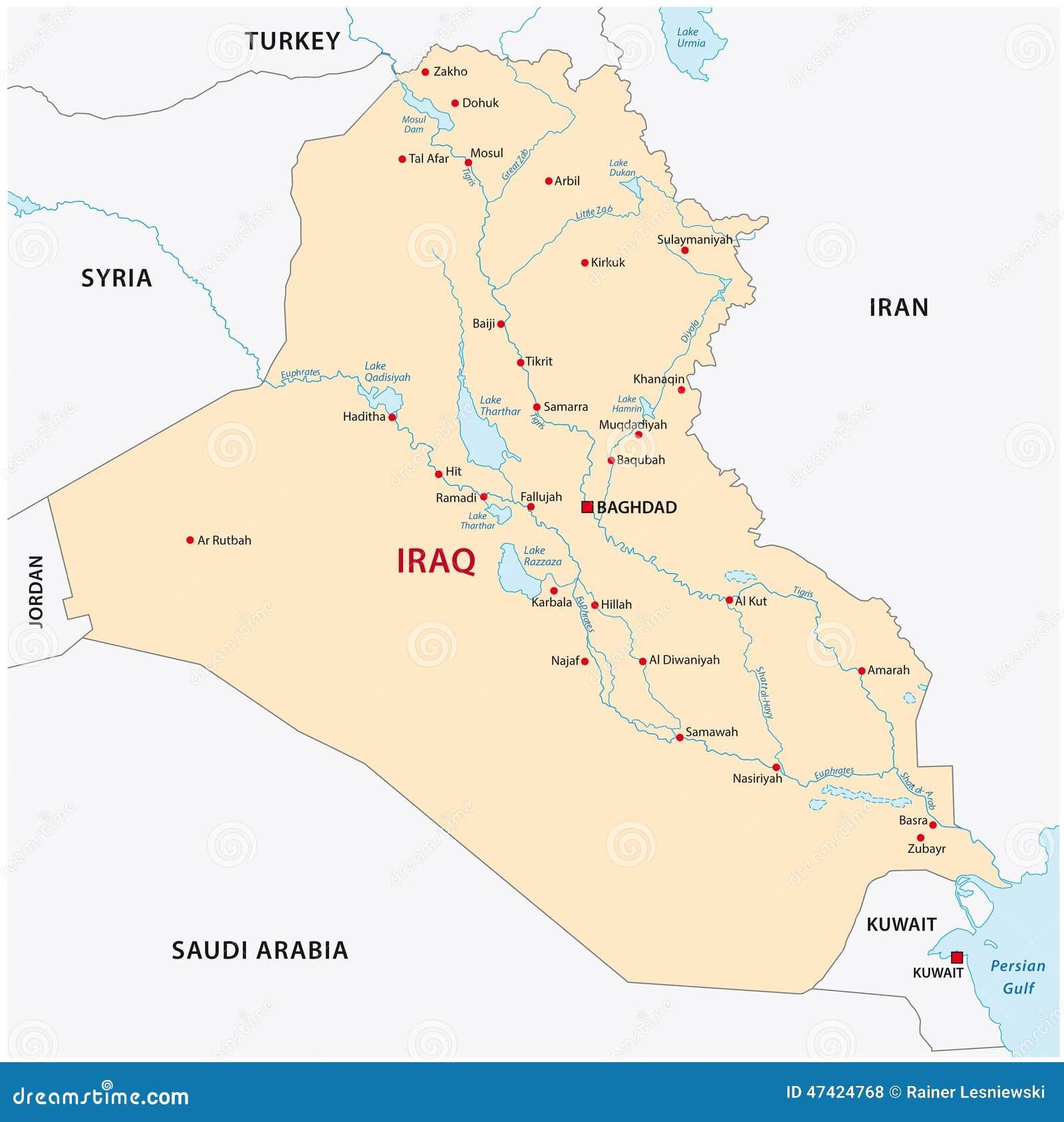 Iraq map stock illustration Illustration of geographic 47424768