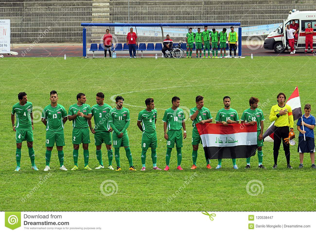 Iraq team editorial photography  Image of players, world