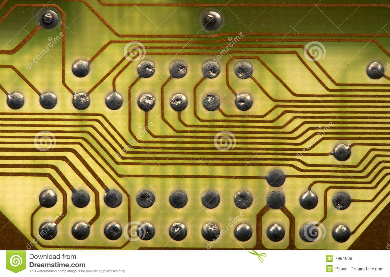 Ircuitboard Background In Hi Tech Style Royalty Free