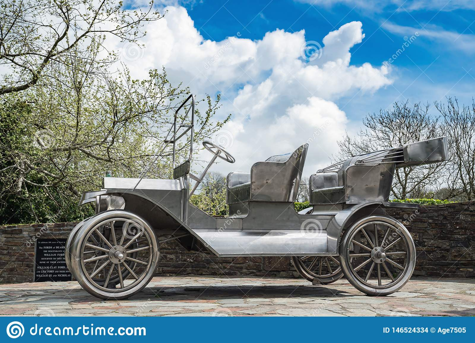 Stainless Steel Ford Model T Monument Editorial Stock Image Image Of Republic Ford 146524334