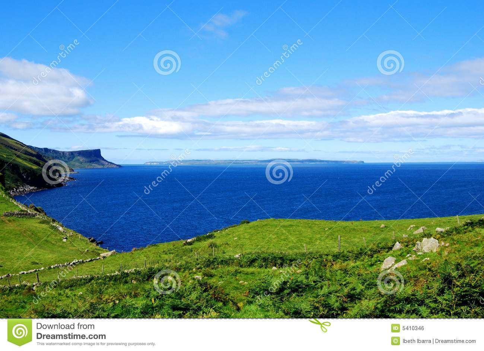 Ireland för antrim kusthuvud nordliga torr
