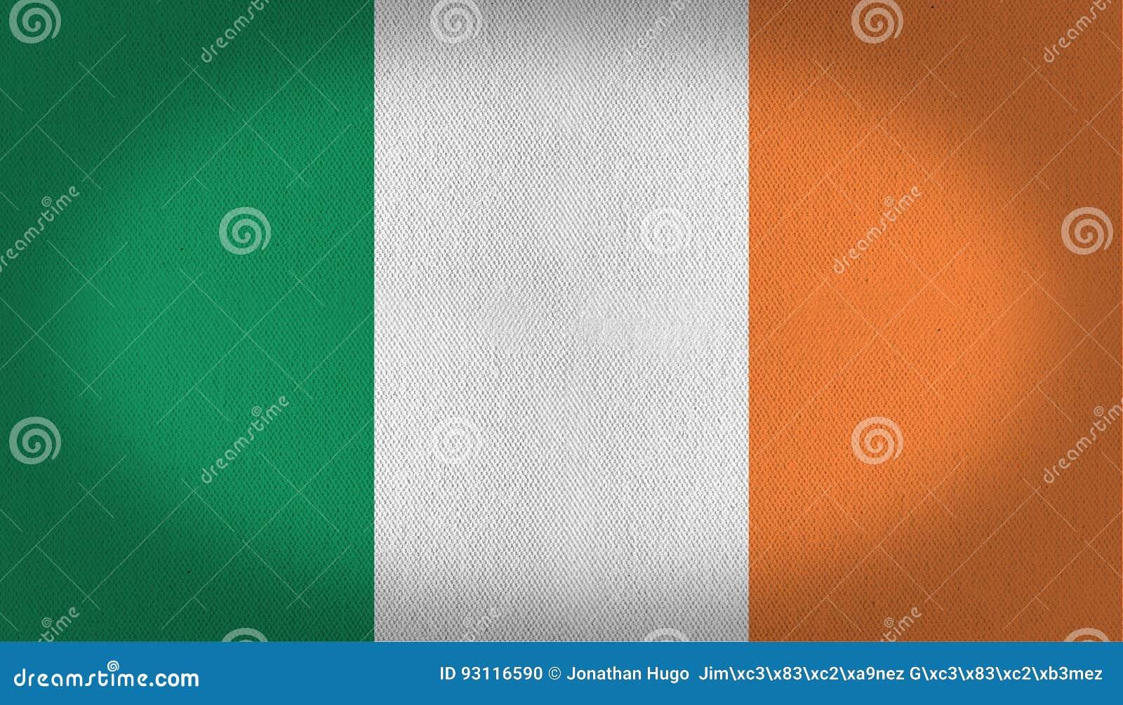 Ireland flag stock illustration  Illustration of fabric