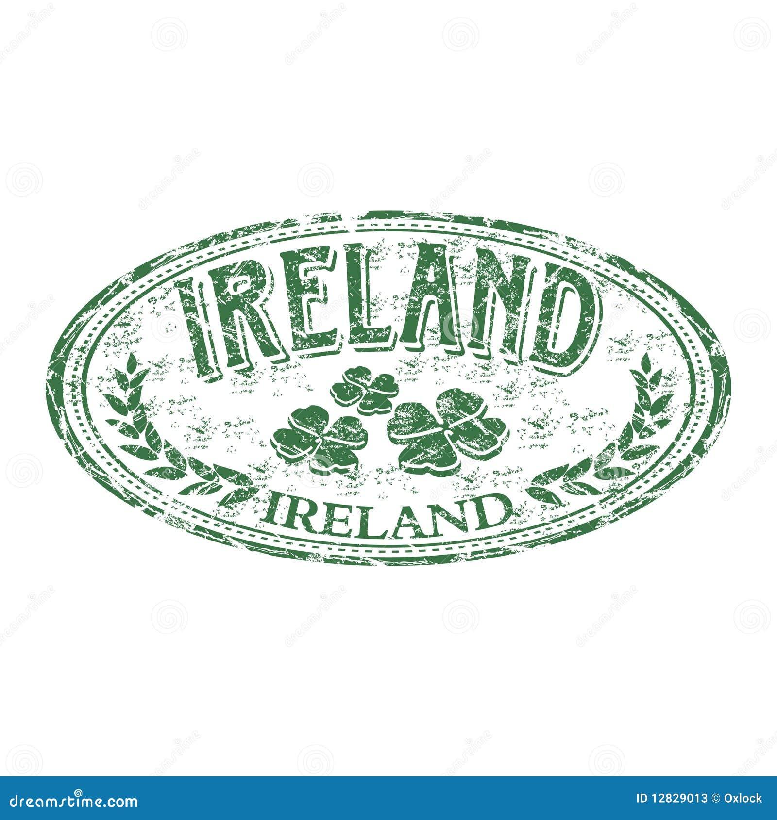 Ireland Grunge Rubber Stamp Stock Vector Image 12829013