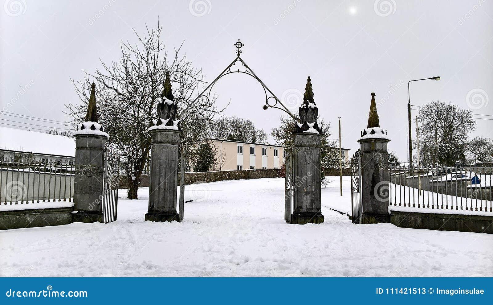 Ireland. Kanturk. Winter in County Cork