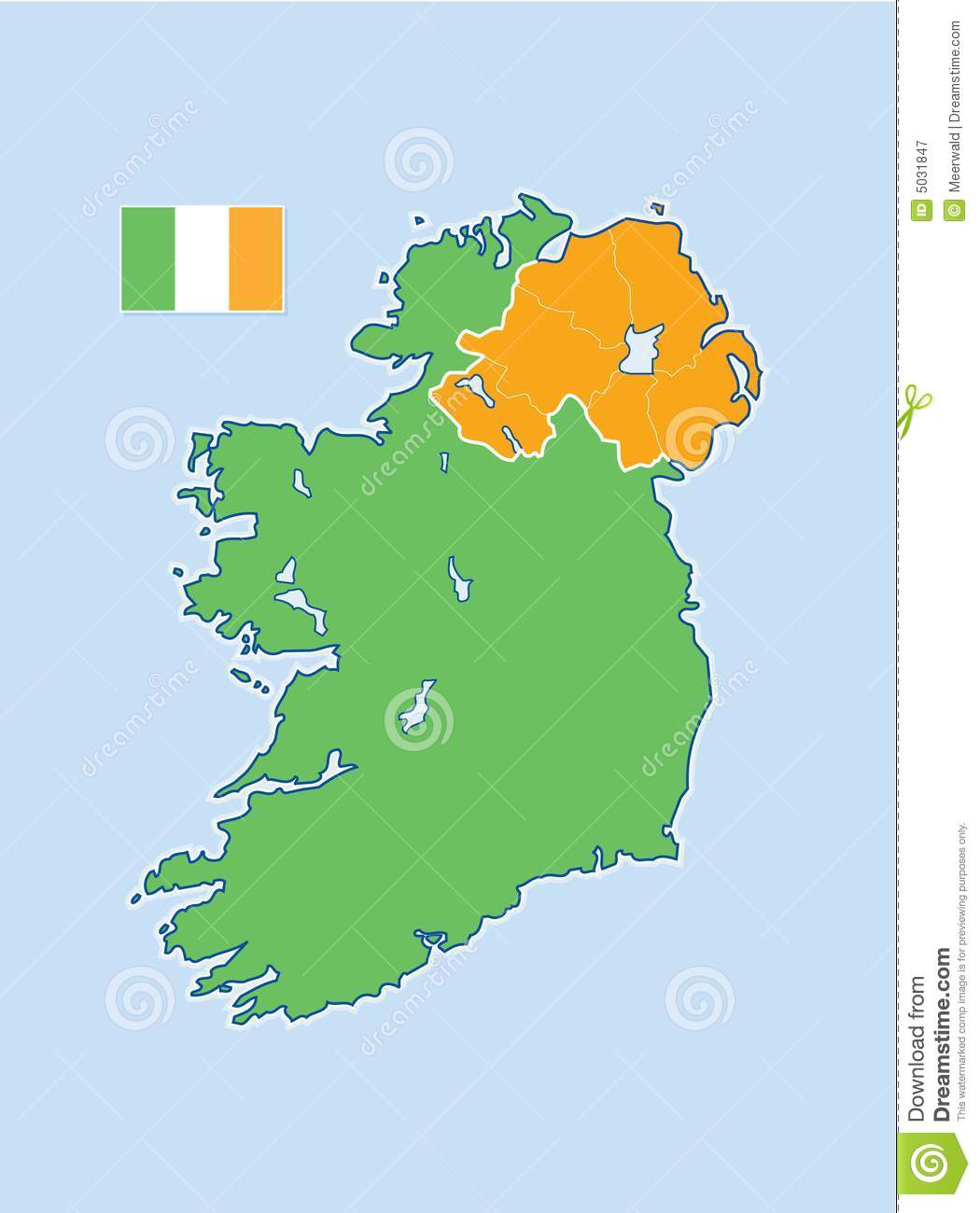 Map Of North And South Ireland.Ireland Map Stock Illustration Illustration Of Member 5031847