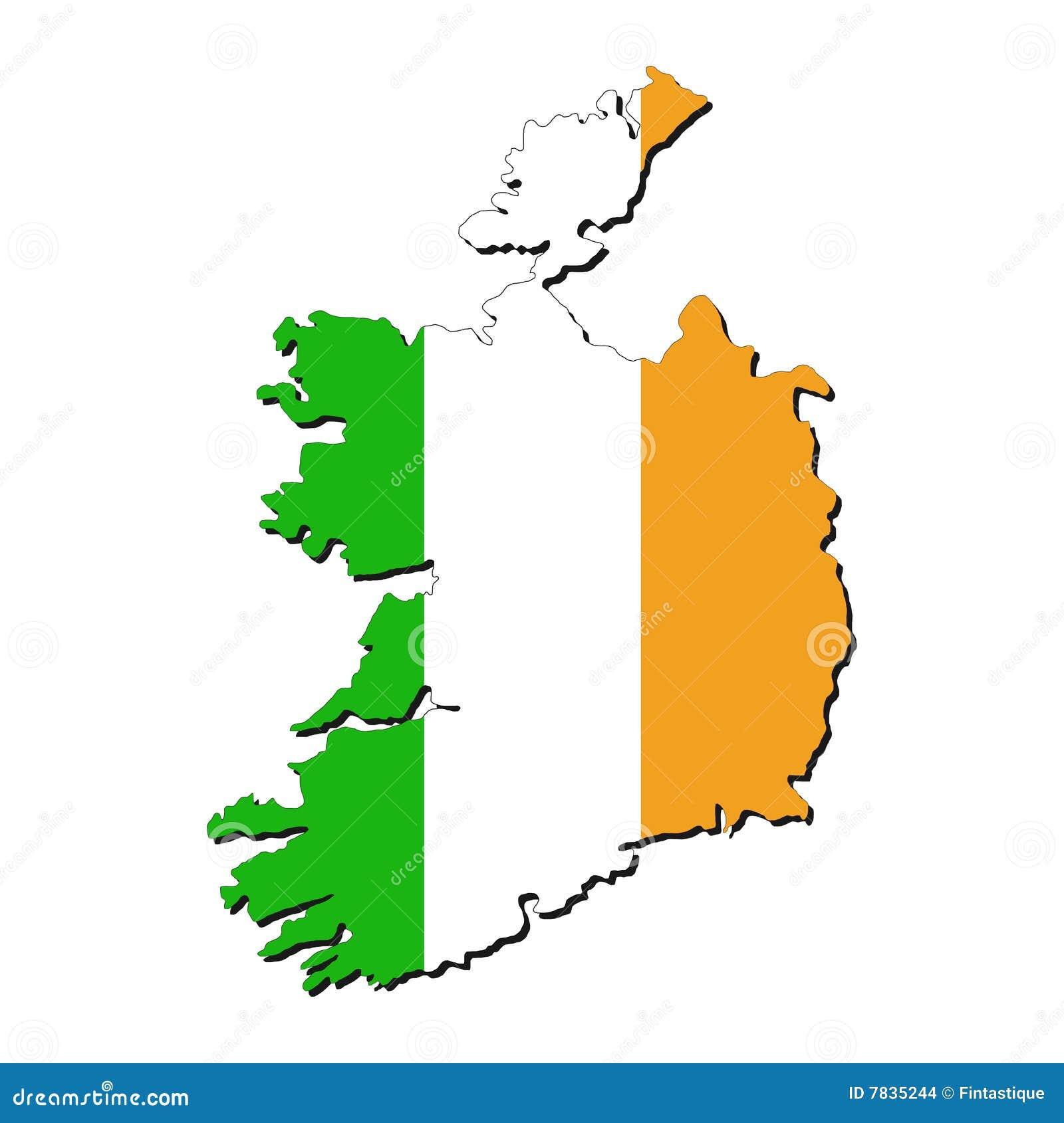 Ireland Map Flag Stock Vector Illustration Of Diagram - Ireland map download