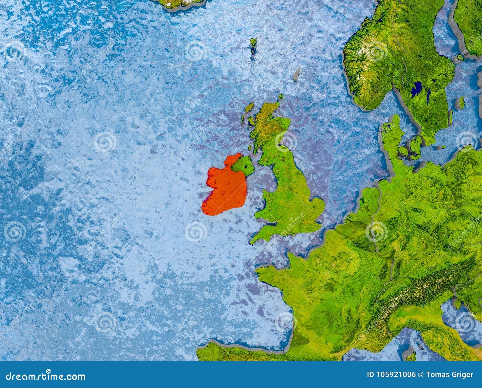 Map Of Ireland 3d.Map Of Ireland Stock Illustration Illustration Of Europe 105921006