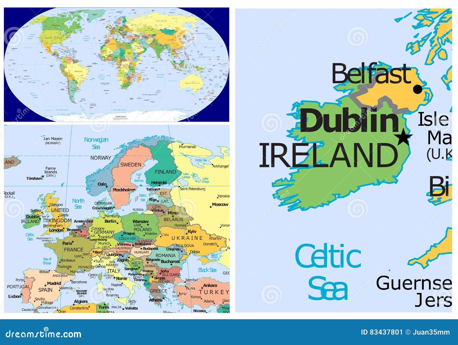 Ireland & World stock illustration. Illustration of division - 83437801