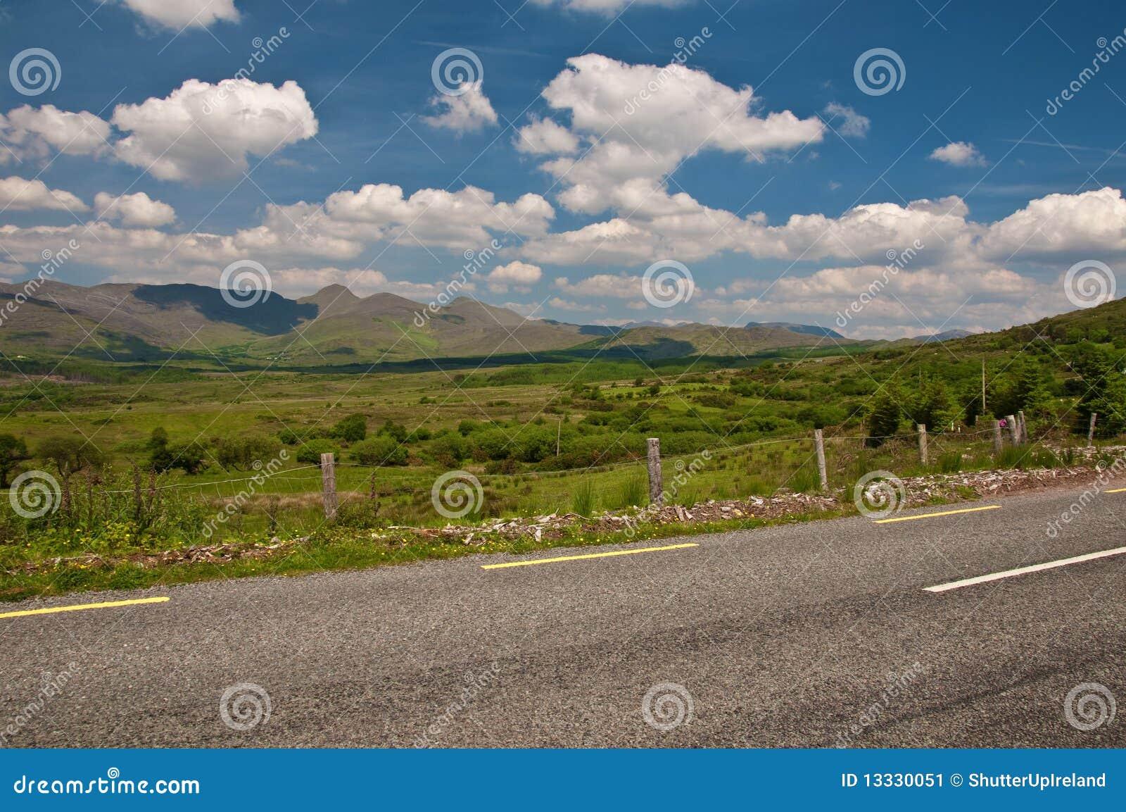 Ireland zachód krajobrazowy sceniczny wibrujący