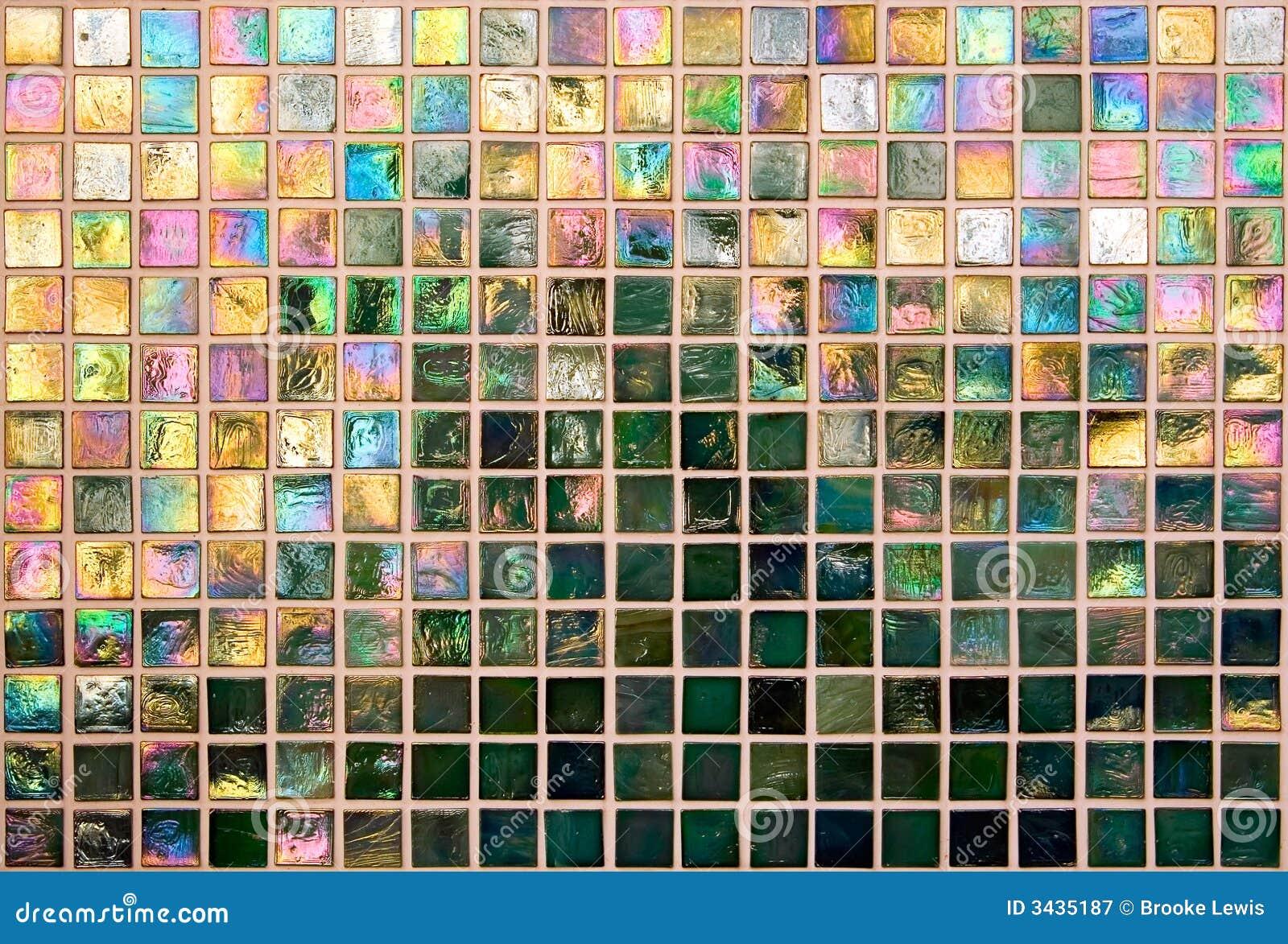 Iridescent Tile Wall stock image. Image of reflection - 3435187