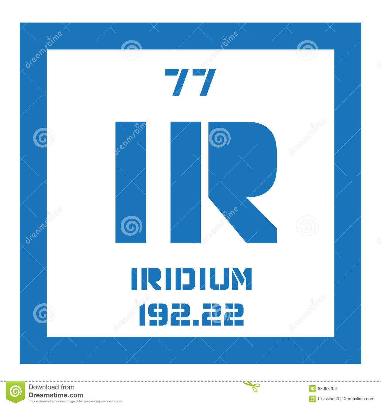 Iridium Chemical Element Stock Vector Illustration Of Fundamental