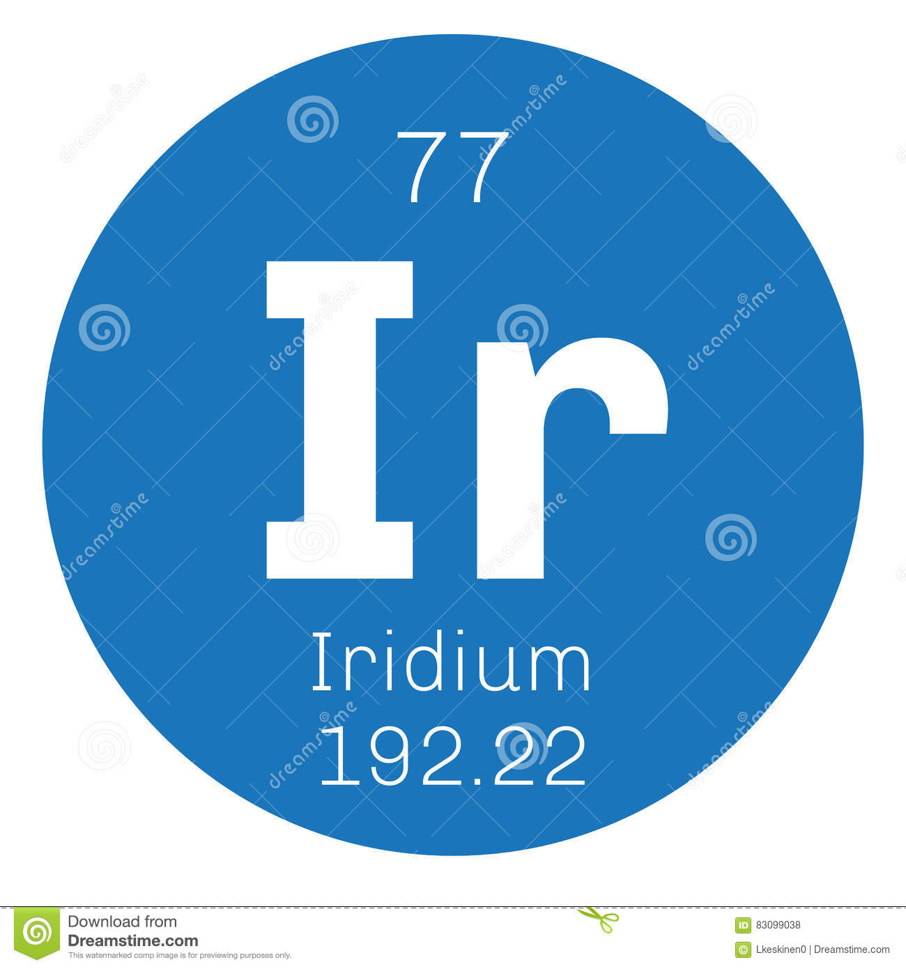 Iridium Chemical Element Stock Vector Illustration Of Iridium