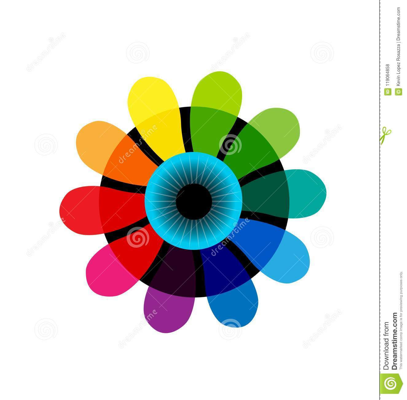 Iris Abstract Color Wheel Vector Stock Vector Illustration Of Blue