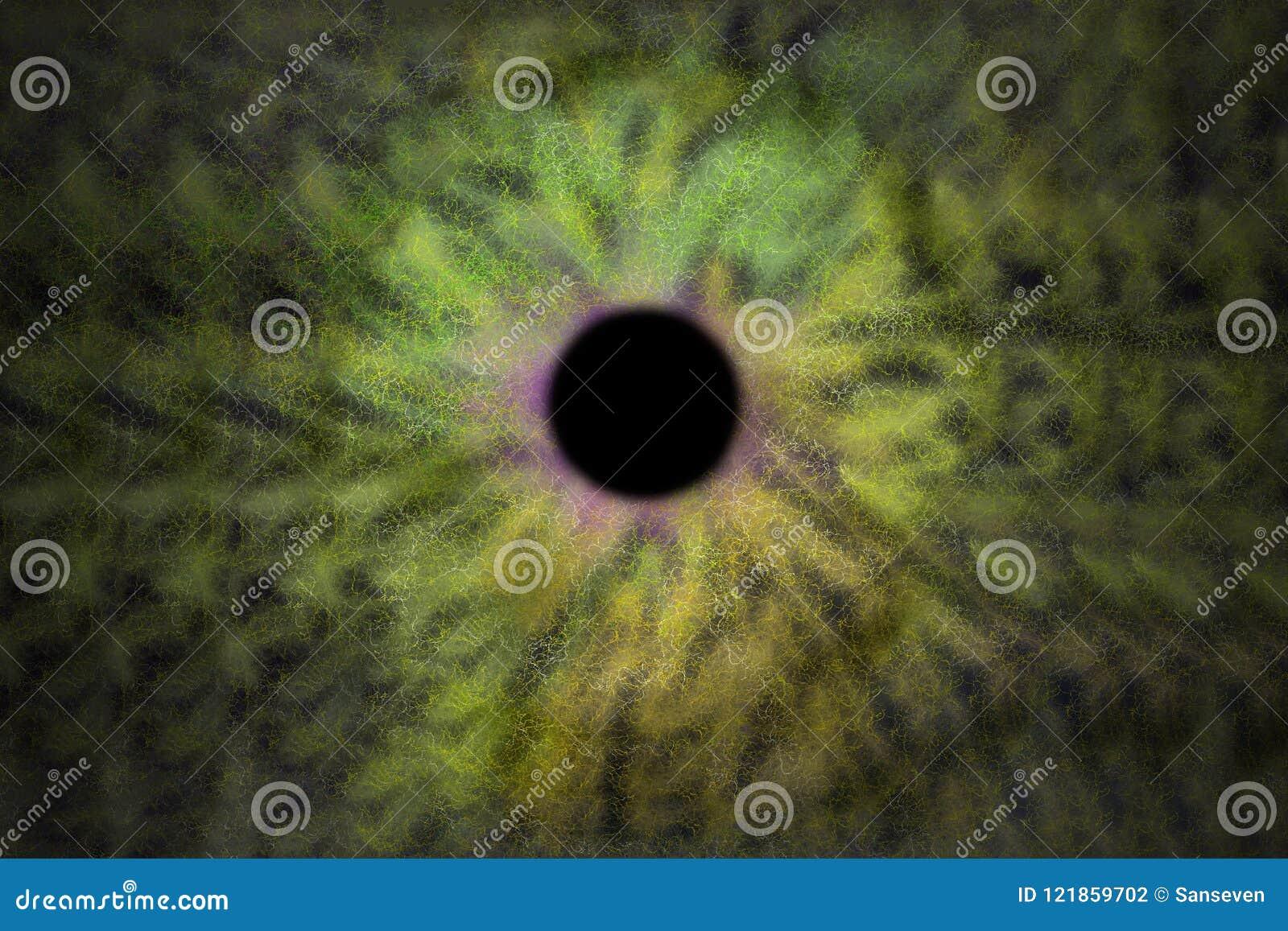 Iris Background - Galaxie-Kosmos-Art, Universum-astronomische Tapete mit Gelbgrün stardust