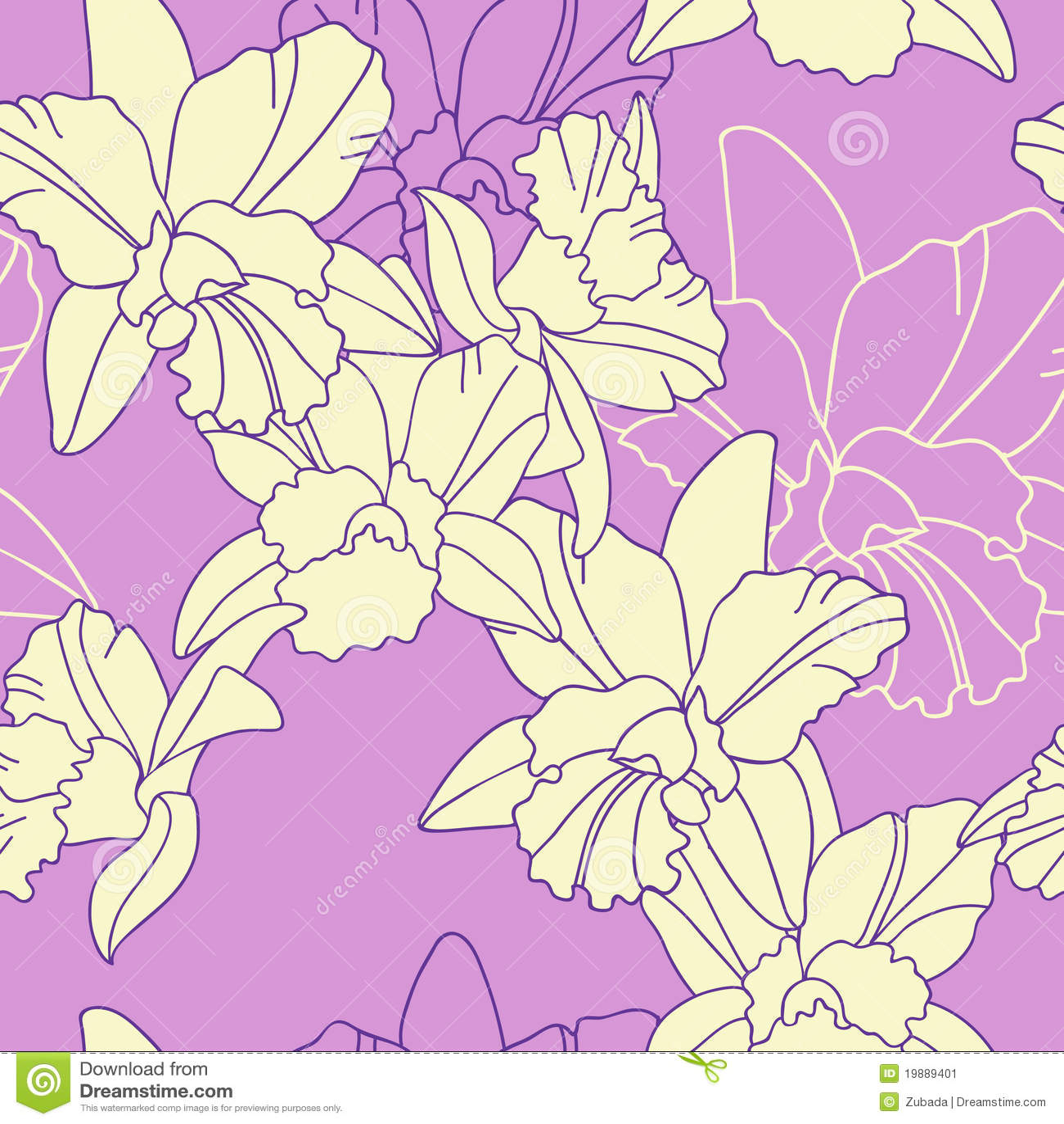 Iris Flower Seamless Pattern Stock Vector Illustration Of Nature