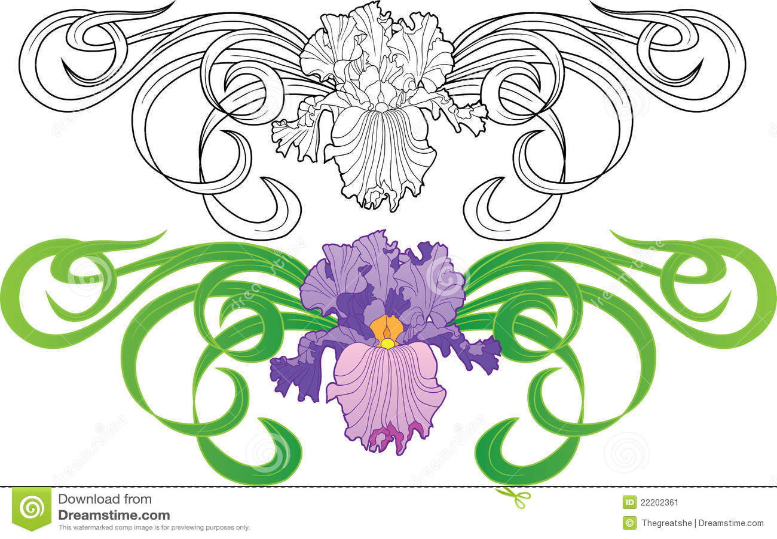 Iris flower vignette tattoo stock vector illustration of plant iris flower vignette tattoo izmirmasajfo