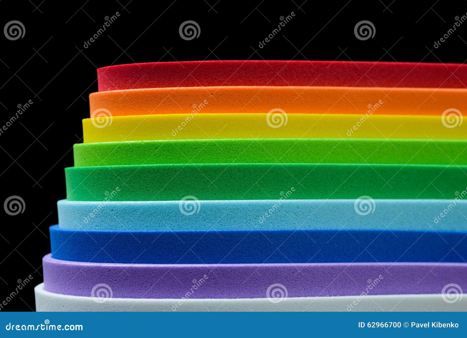 Iriserende kleuren van cellulair rubber