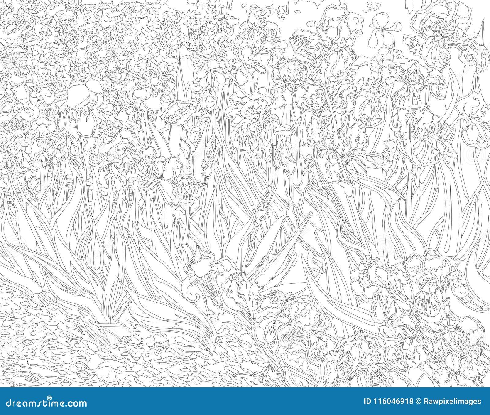 coloring book ~ Vincent Van Gogh Coloringagesaintings Bookage ... | 1117x1300