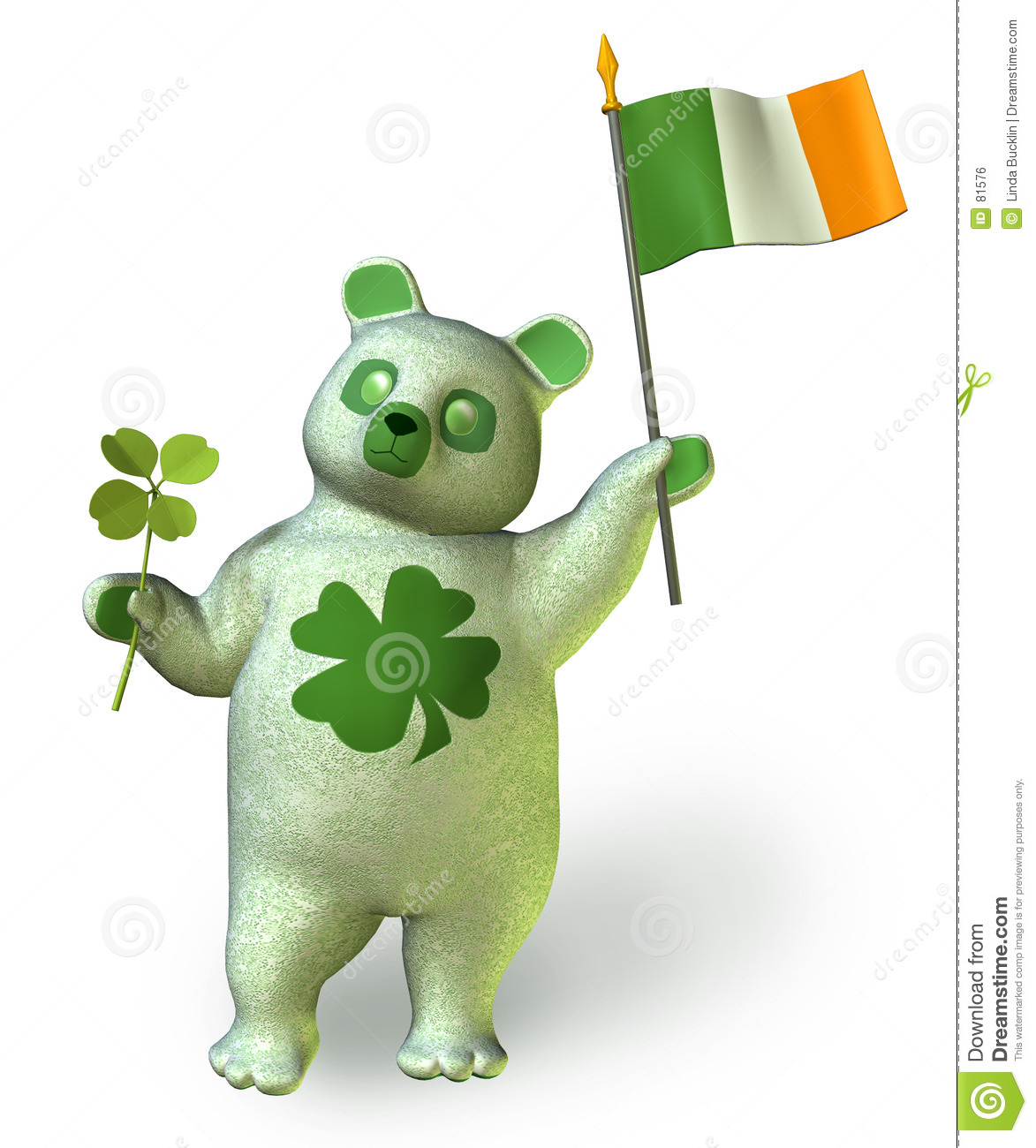 Irish Bear _ includes clipping path