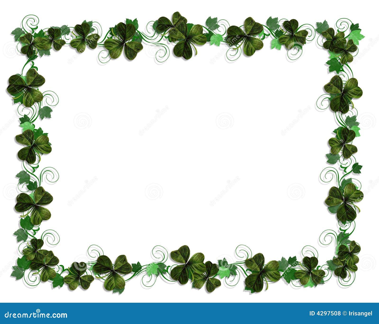 Irish border Ivy and Shamrocks